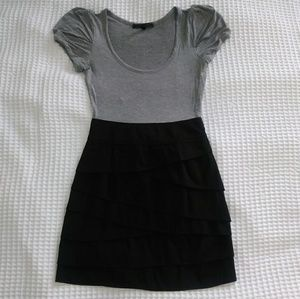 BCBG MAXAZRIA Gray Black Dress Size 0
